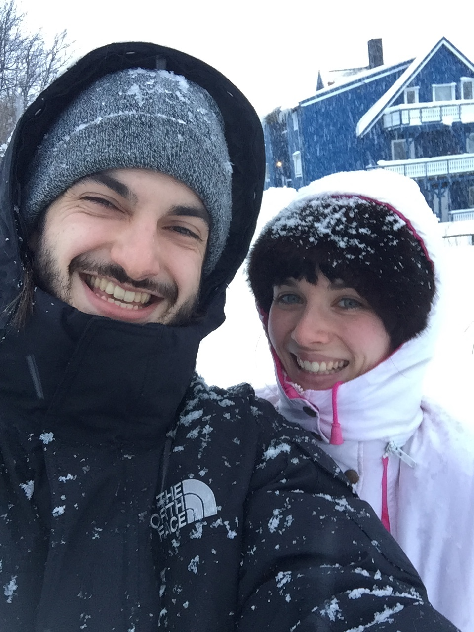 Au pôle Nord avec ma copine !
