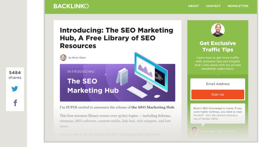 the SEO marketing hub