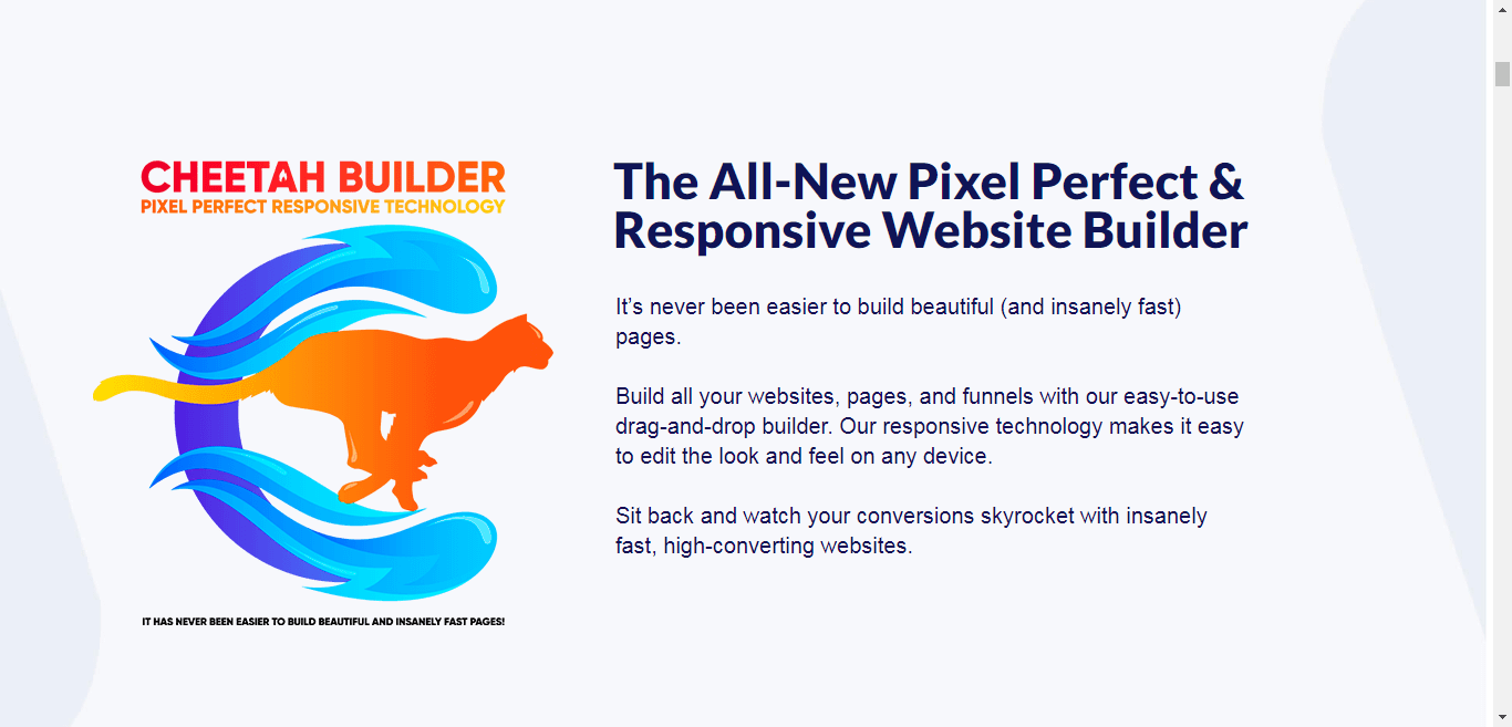 New pixel and website Builder