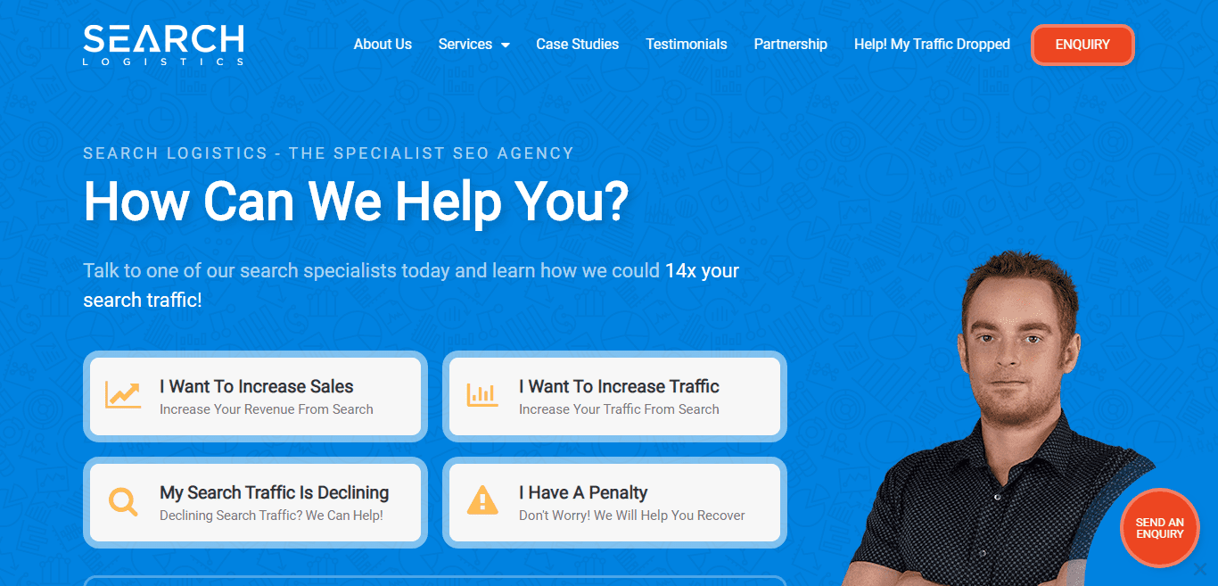 Search logistics home page