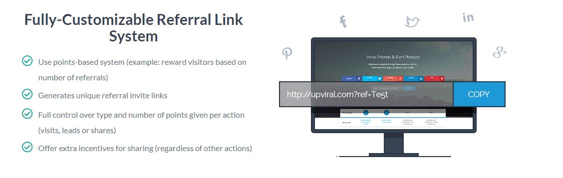 Referral link system