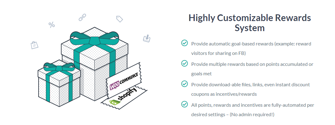 Customizable rewards system