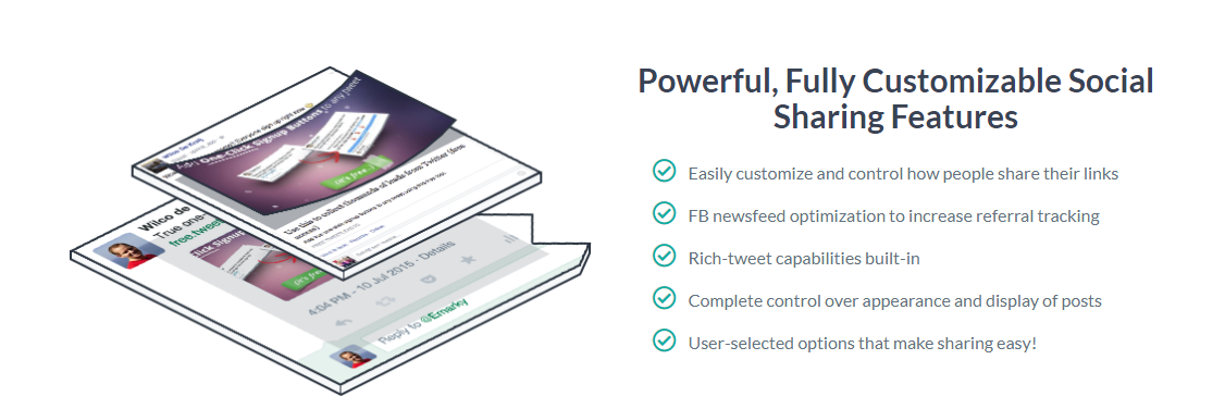 Robust and fully customized social sharing