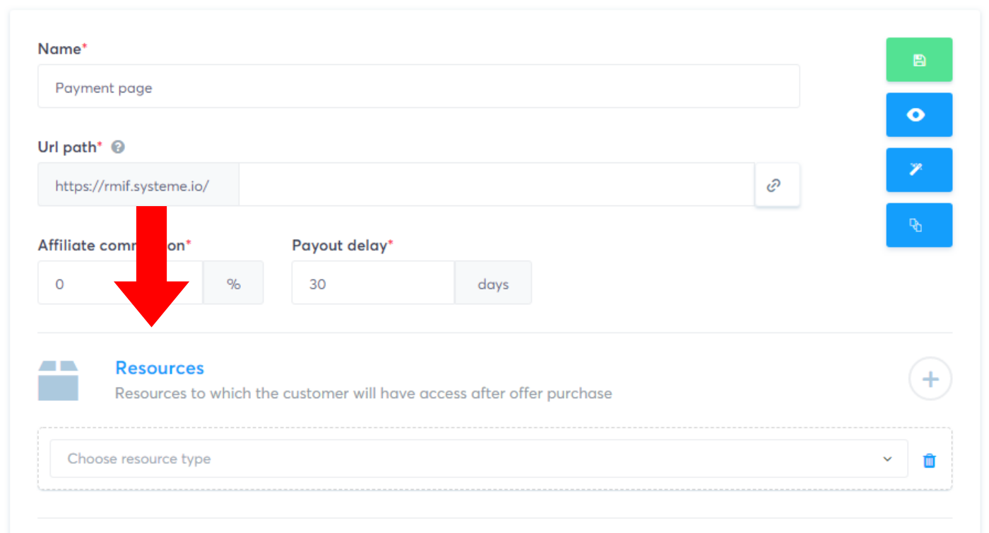 Payment page settings